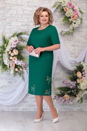 Жакет, платье Ninele 2243 изумруд