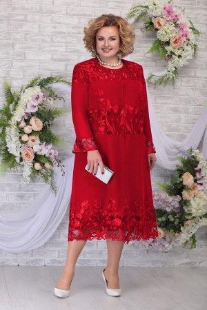 Кардиган, платье Ninele 2258 красный