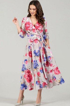 Платье Teffi Style Артикул: L-1483 серебряный