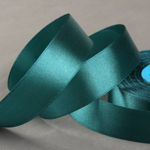 Лента атласная, 25 мм ? 33 ± 2 м, цвет тёмно-зелёный №106