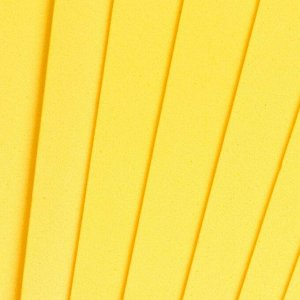 "Фоамиран ""Лимонный"" набор 10 листов, формат А4, 1 мм"