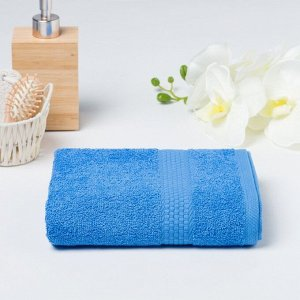 Полотенце махровое гладкокрашеное «Эконом» 70х130 см, цвет голубой