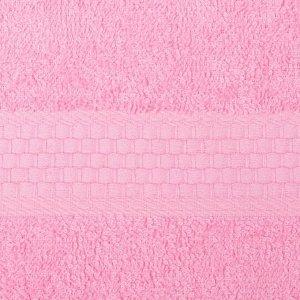 Полотенце махровое гладкокрашеное «Эконом» 70х130 см, цвет розовый