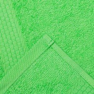 Полотенце махровое гладкокрашеное «Эконом» 70х130 см, цвет салатовый