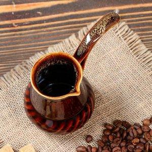 "Турка для кофе ""Винтаж"", коричневая, 0.2 л"