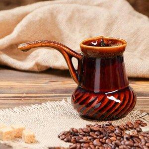 "Турка для кофе ""Винтаж"", коричневая, 0.3 л"