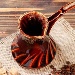 "Турка для кофе ""Винтаж"", коричневая, 0.45 л"