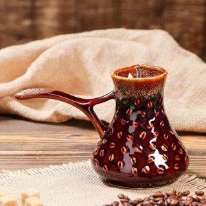 """Турка """"Кофе"""" коричневая 0.45 л"""