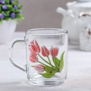 Кружка «Весенние тюльпаны», 200 мл, без упаковки
