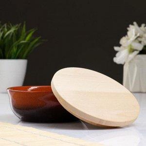 Набор для холодца 0,3 л (1 емкость с деревянной крышкой ) 13х6см, традиция