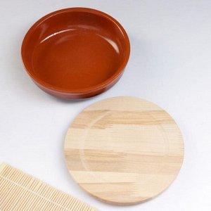 """Набор для холодца """"Вятский №3"""" (3 емкости / 1л. + 3 деревянные крышки), традиция"""