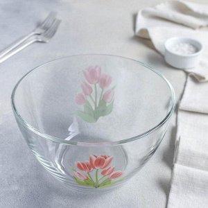 Салатник «Весенние тьльпаны», 1,75 л