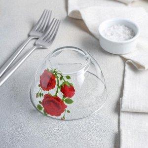 Набор салатников «Алая роза», 3 шт: 1,75 л, 800 мл, 250 мл