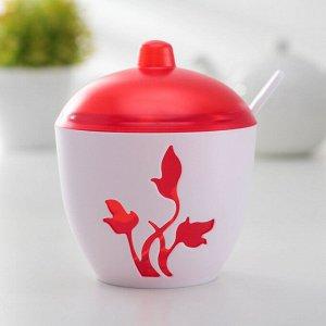Сахарница с ложкой «Viola», цвет красный