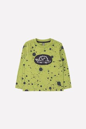 Джемпер(Осень-Зима)+boys (зеленый, брызги краски к262)
