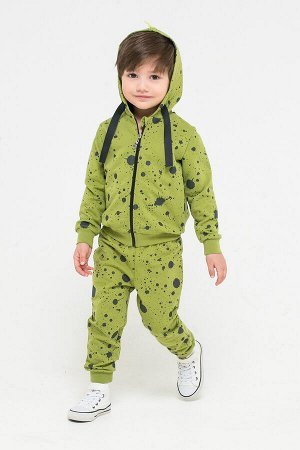 Брюки(Осень-Зима)+boys (зеленый, брызги краски к262)