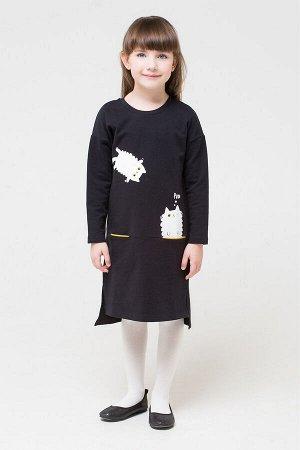 Платье(Осень-Зима)+girls (черный к271)