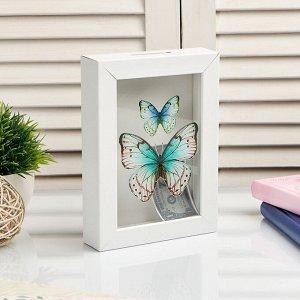 "Копилка интерьерная пластик ""Бабочки"" 17х12х3,8 см"