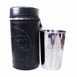 Набор стаканов  в кожаном чехле, 160 мл,  4 шт
