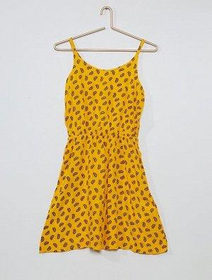 Платье с оригинальным рисунком на спинке