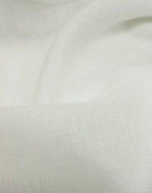 Лен костюмный с эффектом мятости цв.Белый, ш.1.45м, лен-100%, 190гр/м.кв