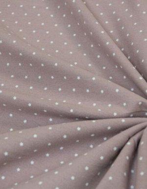 Теплый хлопок Мелкие звезды на пыльной розе, 1.50 м, хлопок-100%