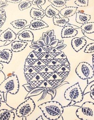"""Интерьерный хлопок """"Тропический сад"""" цв.темно-синий, ш.1,5 м, хл-100%, 240 гр/м.кв"""