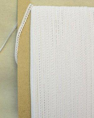 Кружево хлопок-90%, п/э-10%, 8мм, цв.белый