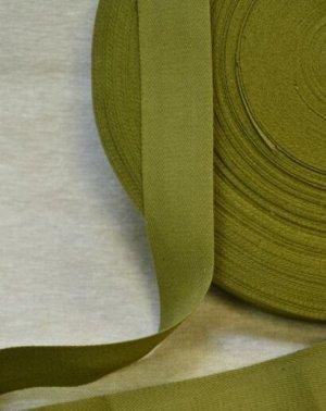 Лента техническая 40мм, хлопок-100%, цв.зеленый хаки