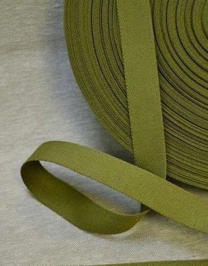 Лента техническая 25мм, хлопок-100%, цв.зеленый хаки