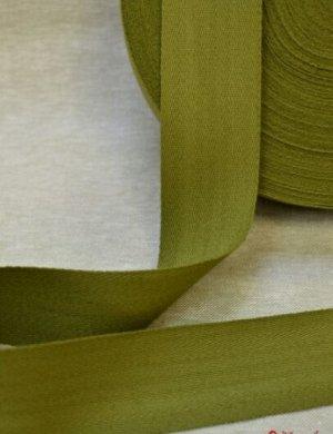 Лента техническая 50мм, хлопок-100%, цв.зеленый хаки