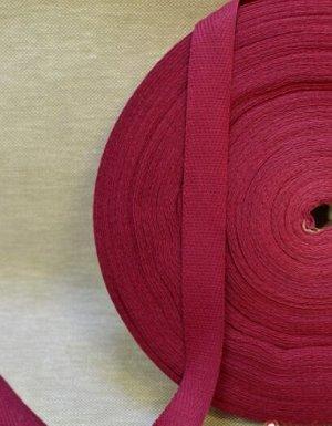 Лента киперная 17 мм, хлопок-100%, цв.малиновый