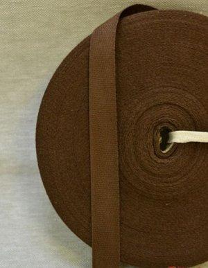 Лента киперная 18мм, хлопок-100%, цв.коричневый