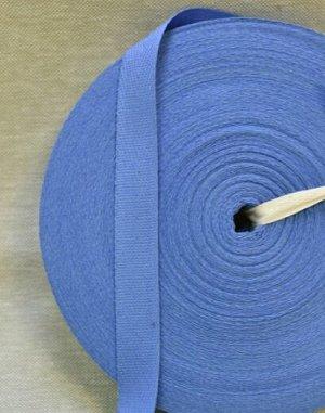 Лента киперная 18мм, хлопок-100%, цв.темно-голубой 2