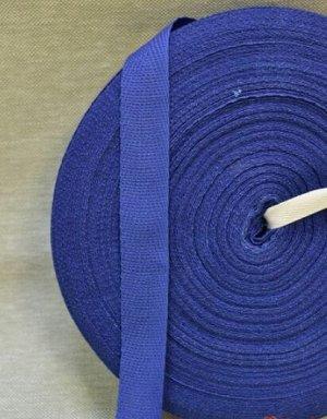 Лента киперная 18мм, хлопок-100%, цв.синий