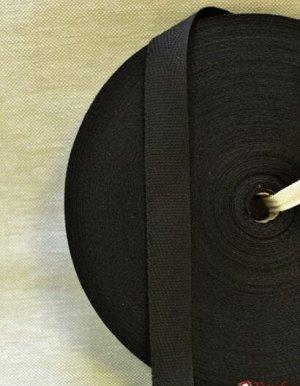 Лента киперная 17мм, хлопок-100%, цв.черный