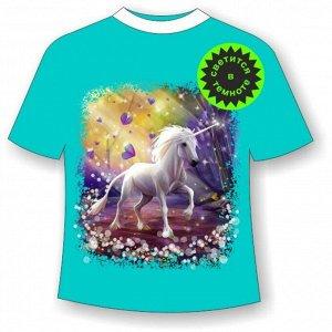 Детская футболка Единорог NN 4 (В)
