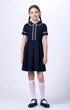 10704 Платье для девочек D362.01 синий