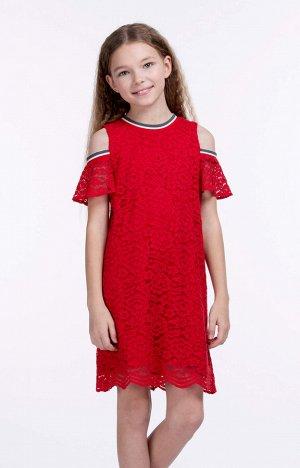 40010 Платье для девочек D316.01 Красный