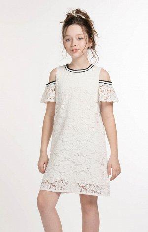 40013 Платье для девочек D316.04 Белый