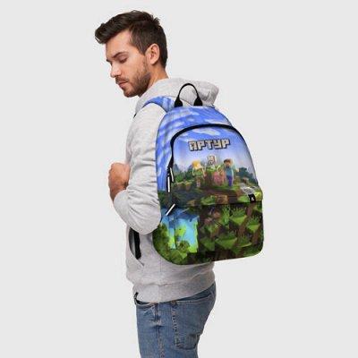 Brawl Stars. Одежда и аксы. Новинки! — Новинка! Рюкзаки 3D «MINECRAFT» — Школьные рюкзаки