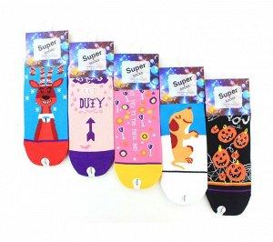 Женские носки Super Socks LTB-100 хлопок арт.17
