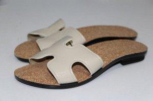 Туфли летние открытые с верхом из искусственных кож женские