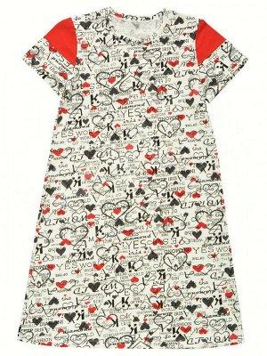 Детское платье со вставкой 676