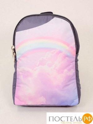 Рюкзак Радуга в розовых облаках (10х24х34 см)