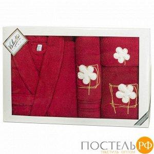 Набор халат+3 полотенца VALENTINI арт.Flower 2 1148/103 L