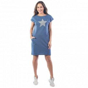 Платье рельефное fullalert КП1327П5 индиго