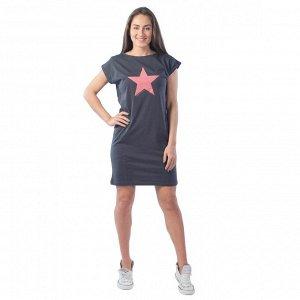 Платье рельефное Fullallert КП1327П5 серый