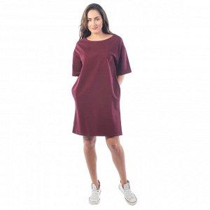 Платье из футера ФП1337 вишневое