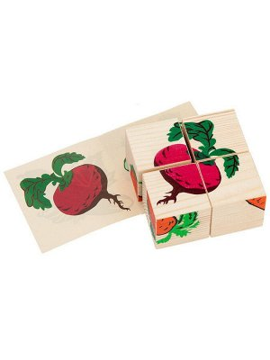 "Кубики ""Овощи"" 4 шт. Томик"